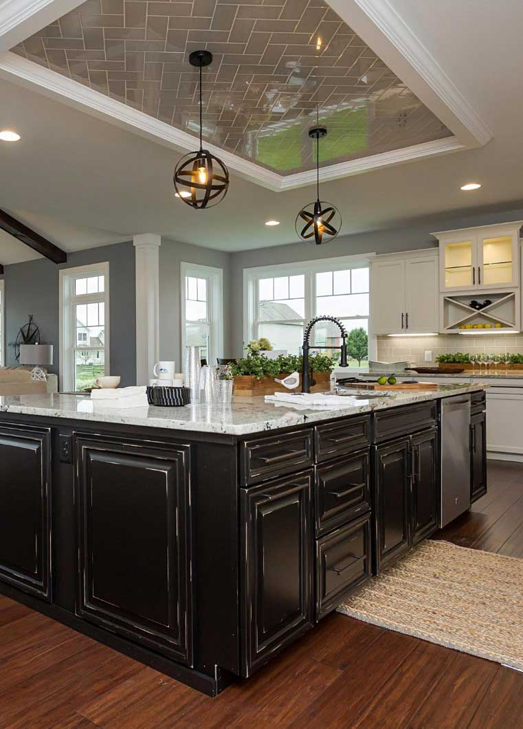 Contrasting Beauty with Two Tone Cabinets