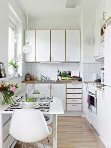 What colors make a small kitchen look bigger