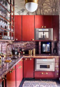 red small kitchen
