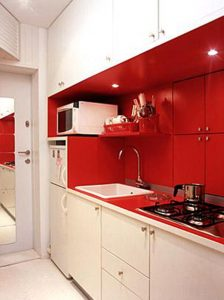 red small kitchen ideas