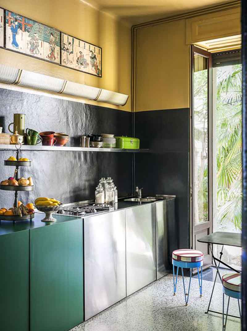 two color small kitchen