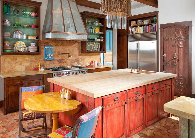 colorful kitchen islands in 2021
