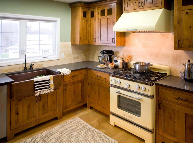 new rustic cabinets